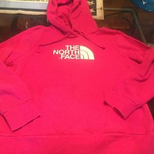 The North Face womens pink Hoodie XL